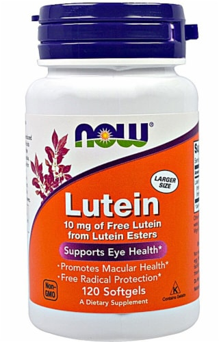 NOW Foods Lutein Softgels 10mg Perspective: front