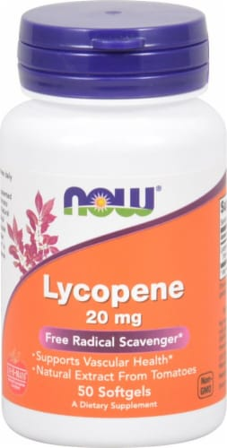 NOW Foods Lycopene Softgels 20mg Perspective: front