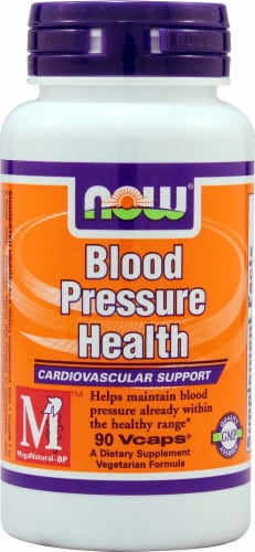 NOW Foods Blood Pressure Health Vcaps Perspective: front