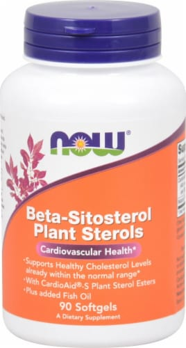 NOW Foods Beta-Sitosterol Plant Sterols Softgels Perspective: front