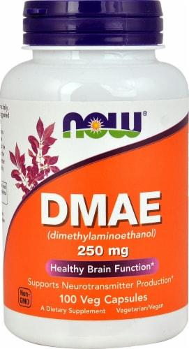 NOW Foods DMAE (Dimethylaminoethanol) Veg Capsules 250mg Perspective: front