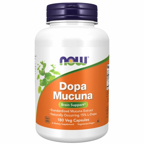NOW Dopa Mucuna Brain Support Perspective: front
