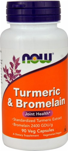 NOW  Turmeric & Bromelain Perspective: front