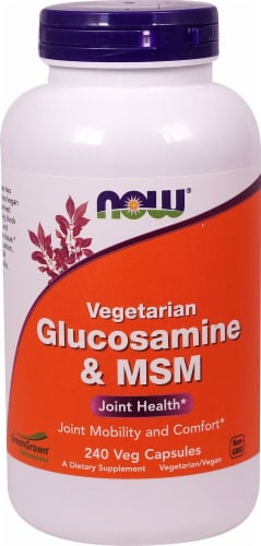 NOW Foods  Glucosamine & MSM Vegetarian Perspective: front