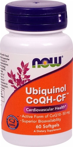 NOW Foods  Ubiquinol CoQH-CF™ Perspective: front