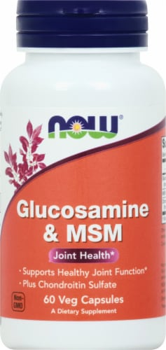 Now Glucosamine & MSM Vegetarian Capsules Perspective: front