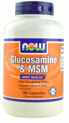 NOW  Glucosamine & MSM Perspective: front