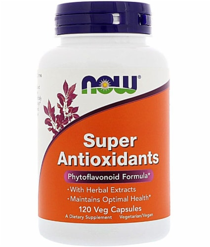NOW Foods Super Antioxidants Veg Capsules Perspective: front