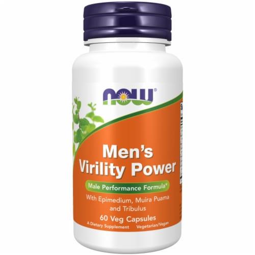 Now Men's Virility Power Vegetarian Capsules Perspective: front