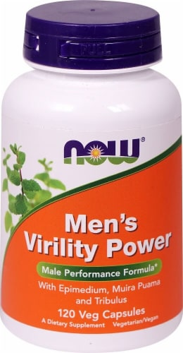 NOW Foods  Men's Virility Power Male Performance Formula Perspective: front