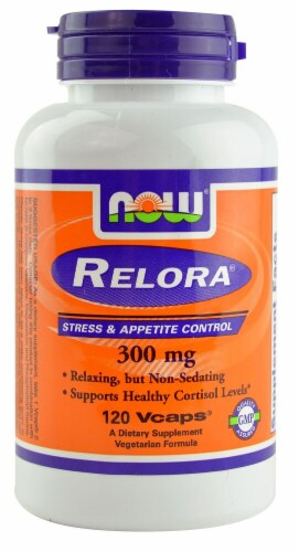 NOW Foods Relora 300mg Veg Capsules Perspective: front