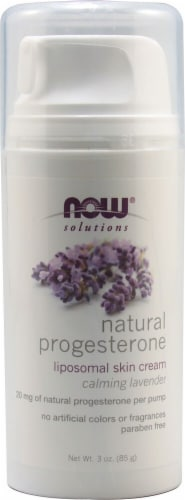 NOW  Solutions Natural Progesterone Cream Calming Lavender Perspective: front