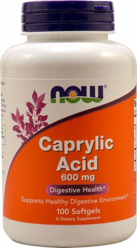 NOW  Caprylic Acid Perspective: front