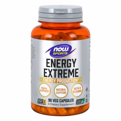 NOW Foods NOW Sports Energy Extreme Veg Capsule Perspective: front