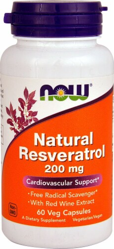 NOW Foods  Natural Resveratrol Perspective: front