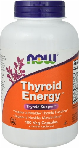 NOW Foods Thyroid Energy™ Veg Capsules Perspective: front