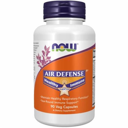 NOW Foods Air Defense Veg Capsules Perspective: front