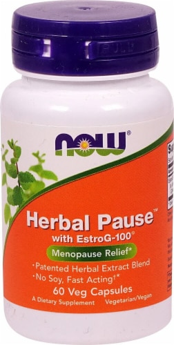 NOW Foods Herbal Pause with EstroG-100 Veg Capsules Perspective: front