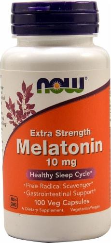 NOW Foods Melatonin Vegetarian Capsules 10 mg Perspective: front
