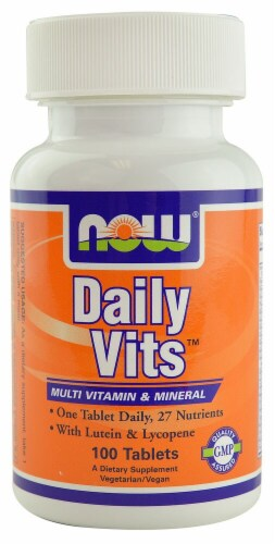 NOW Foods Daily Vits Multi Vitamin & Mineral Tablets Perspective: front