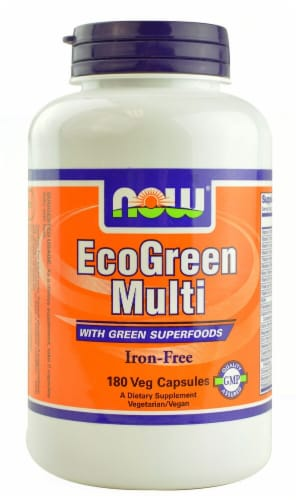 NOW Foods  EcoGreen Multi Iron-Free Perspective: front