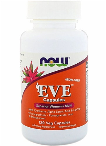 NOW Foods  EVE™ Superior Women's Multi Capsules Iron-Free Perspective: front
