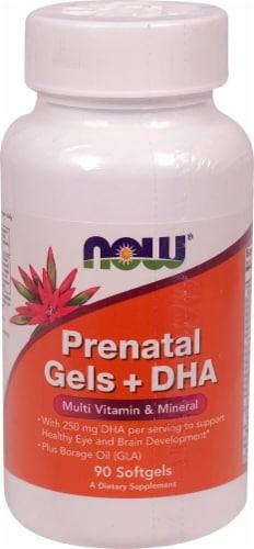 NOW Foods  Prenatal Gels + DHA Perspective: front