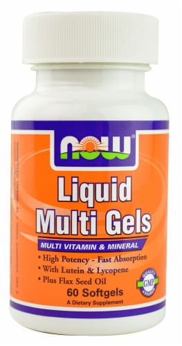 NOW Foods  Liquid Multi Gels Perspective: front