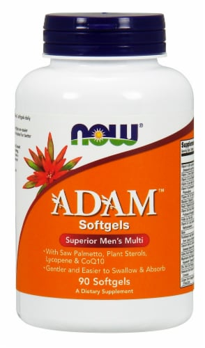Now Adam Superior Mens Multi Softgels Perspective: front