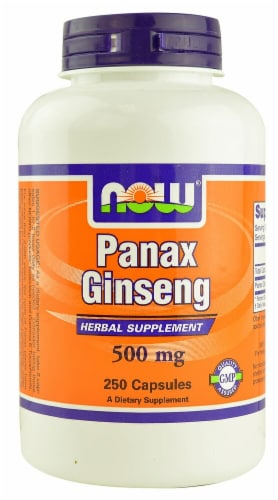 NOW Foods  Panax Ginseng Perspective: front
