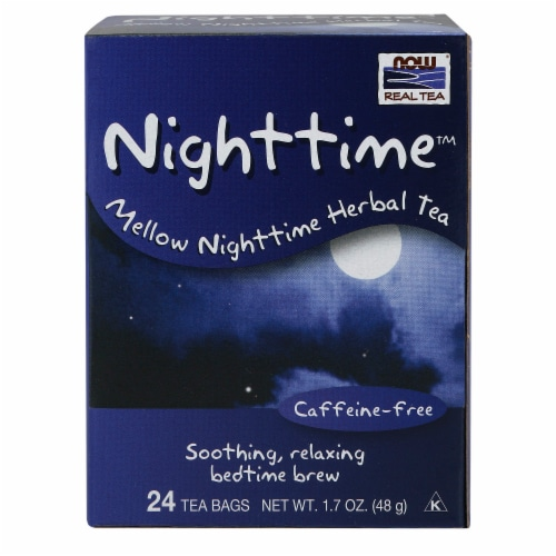NOW Foods Nighttime Mellow Nighttime Herbal Tea Perspective: front