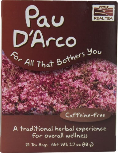 NOW Foods  Real Tea Pau D'Arco Perspective: front