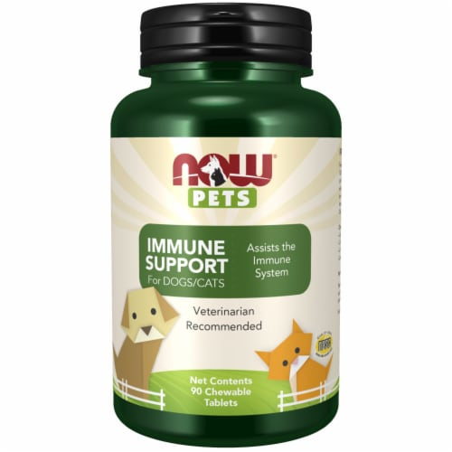 NOW Foods Pets Immune Support Tablets for Dogs-Cats Perspective: front