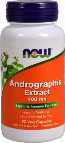 NOW Foods Andrographis Extract Veg Capsules 400mg Perspective: front