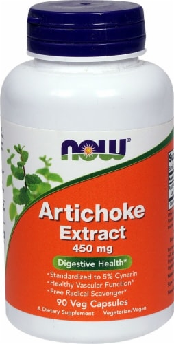 NOW Foods Artichoke Extract Veg Capsules 450mg Perspective: front