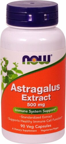 NOW Foods Astragalus Extract Veg Capsules 500mg Perspective: front