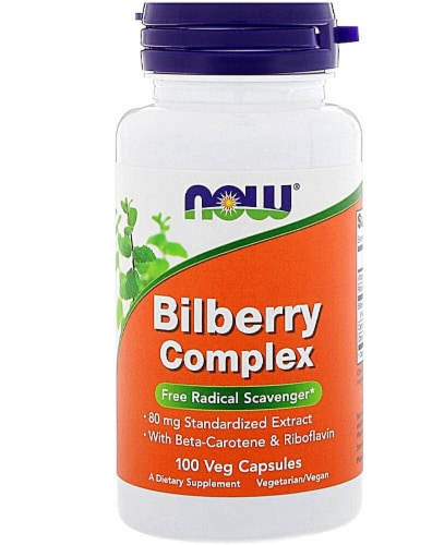 NOW Foods  Bilberry Complex Perspective: front