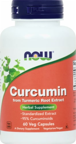 NOW Foods Curcumin Veggie Capsules Perspective: front