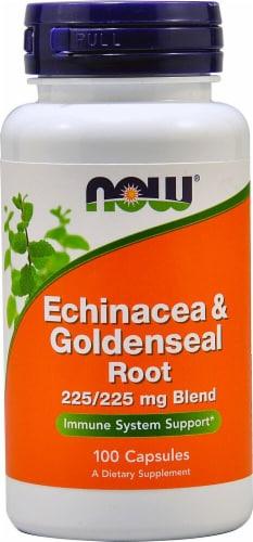 NOW   Echinacea & Goldenseal Root Perspective: front