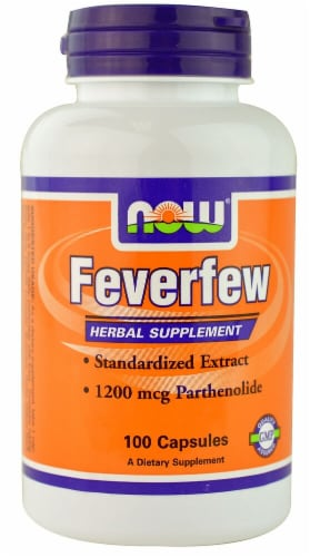 NOW Foods  Feverfew Perspective: front