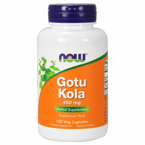 NOW Foods Gotu Kola Herbal Supplement Tablets 450mg Perspective: front