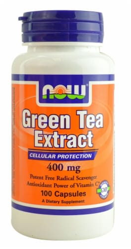 NOW Foods  Green Tea Extract Perspective: front