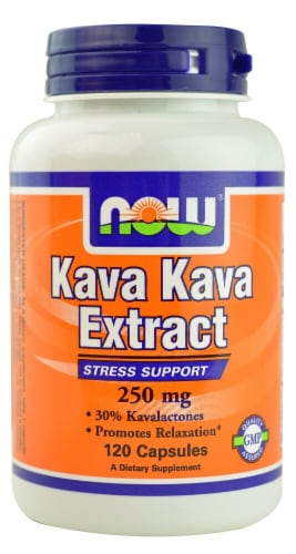 NOW Foods Kava Kava Extract Capsules 250mg Perspective: front