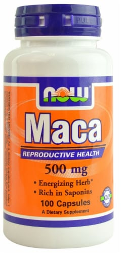 NOW Foods Maca Capsules 500mg Perspective: front