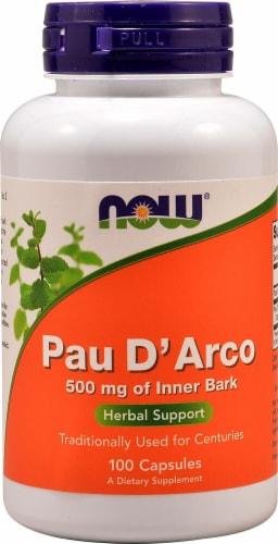 NOW Pau D' Arco Capsules Perspective: front