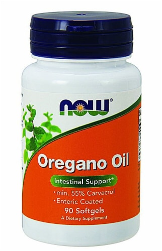 NOW Foods Oregano Oil Softgels Perspective: front