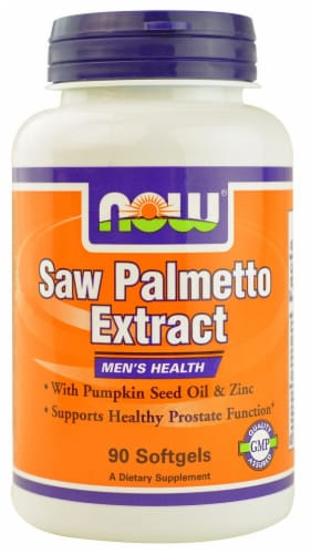 NOW Foods  Saw Palmetto Extract Perspective: front