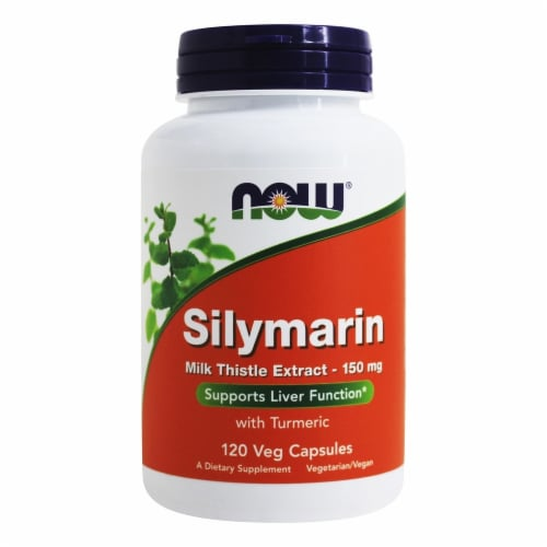 NOW Silymarin Liver Support Vegan Capsules Perspective: front