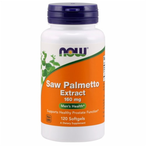 NOW Foods Saw Palmetto Extract Men's Health Dietary Supplement Softgels Perspective: front