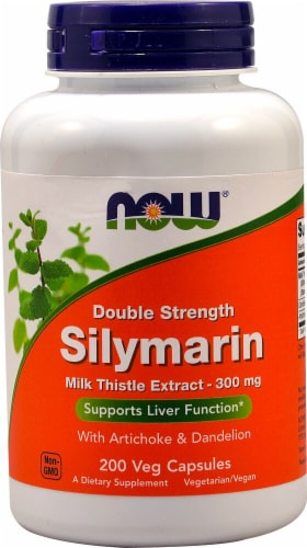 NOW  Double Strength Silymarin Perspective: front